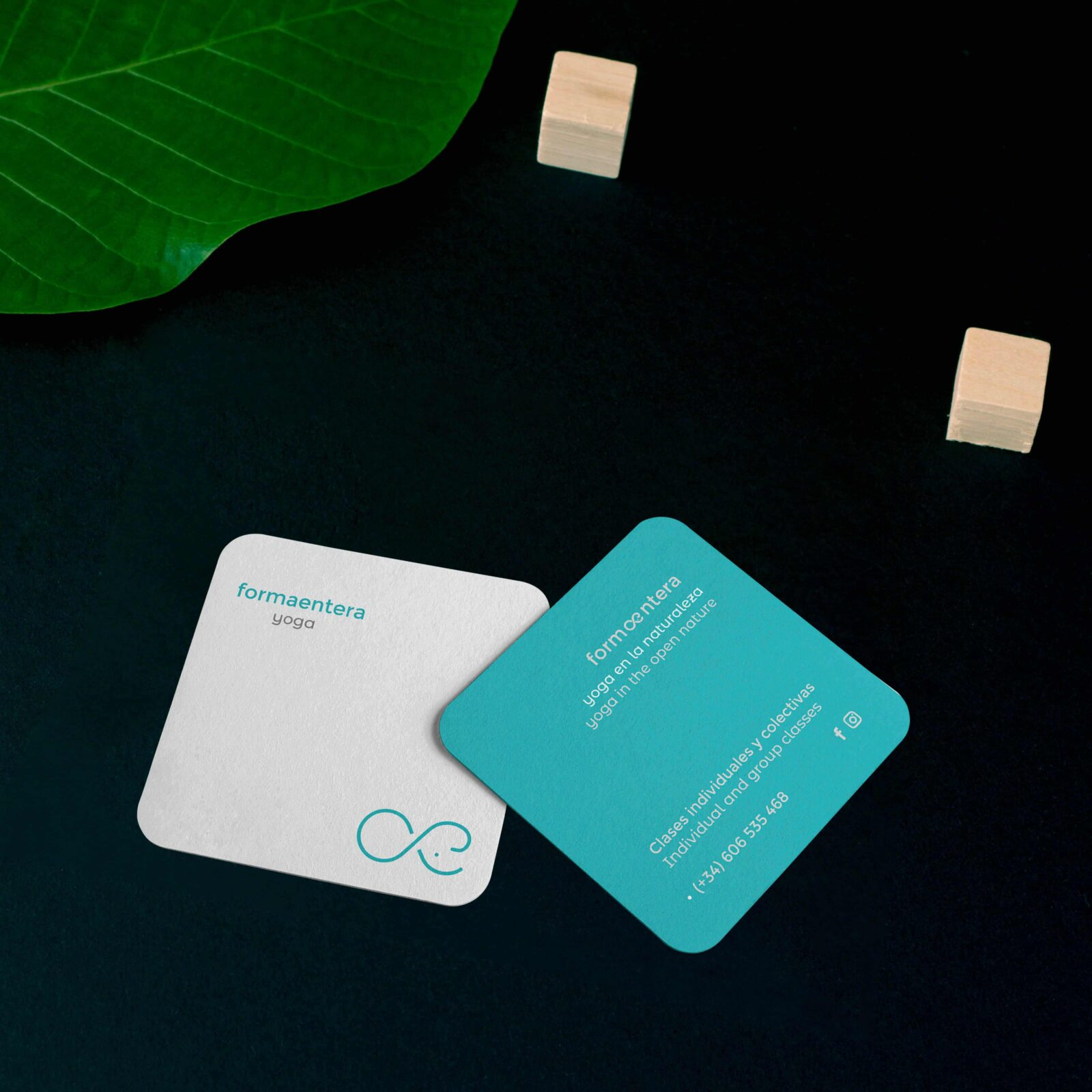 DQarquitectura diseño grafico diseño tarjetas Formaentera