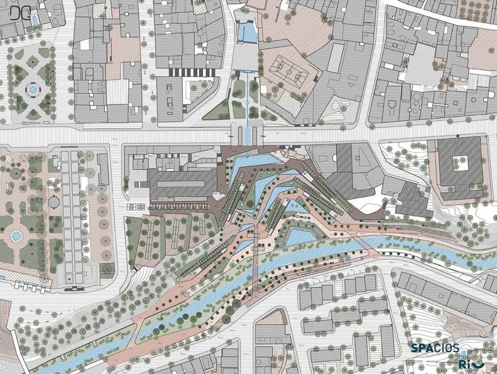 DQ arquitectura y paisaje spacios de río proyecto río barbaña después planta