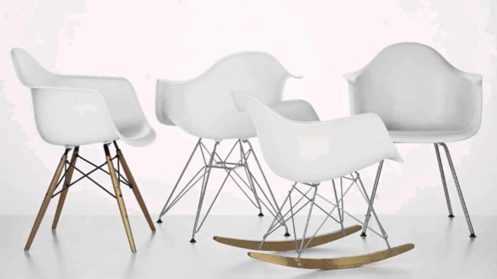 DQarquitectura muebles antiguos que parecen modernos eames antiguo Sillas Vitra Eames Plastic RAR Blanco