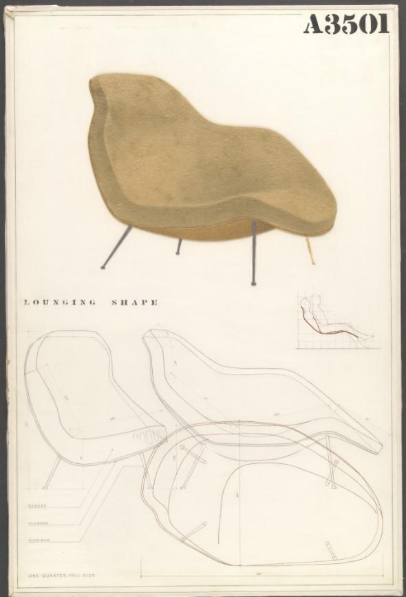 Lounge Chair (panel de entrada para el concurso MoMA para el diseño orgánico en muebles para el hogar)