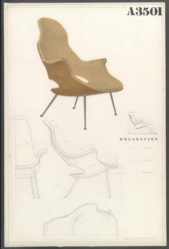 Sillón con respaldo alto (Panel de entrada para el concurso MoMA de diseño orgánico en muebles para el hogar)