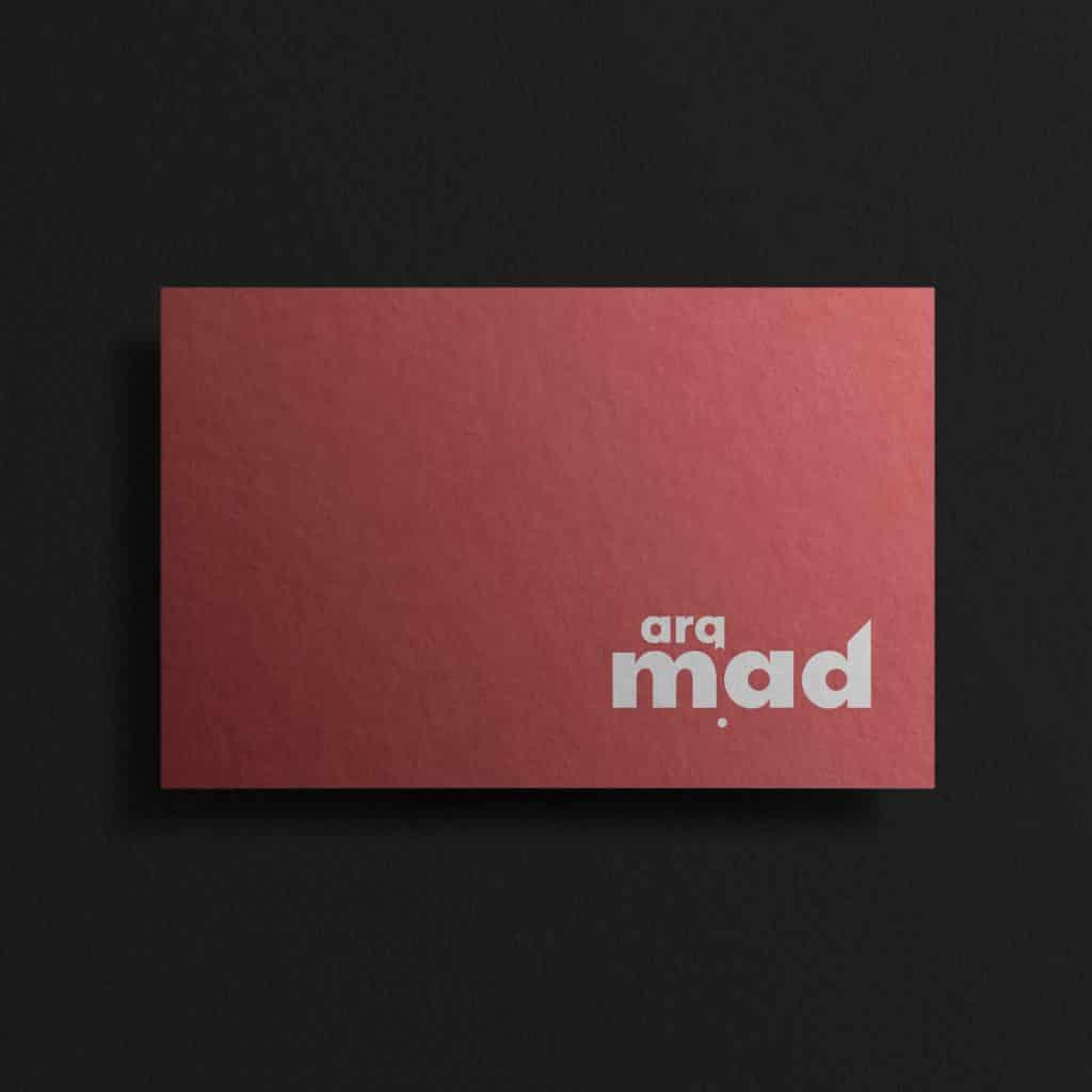 dqarquitectura diseno grafico tarjeta corporativa cara arqmad