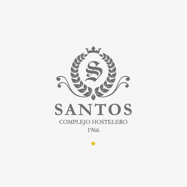 Logotipo complejo hostelero santos