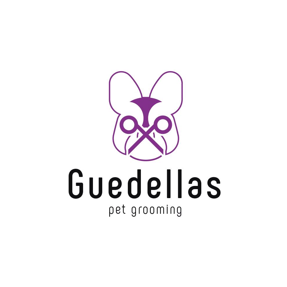 DQarquitectura-diseño-grafico-ourense-logotipo-peluqueria-canina-Guedellas-imagen-corporativa