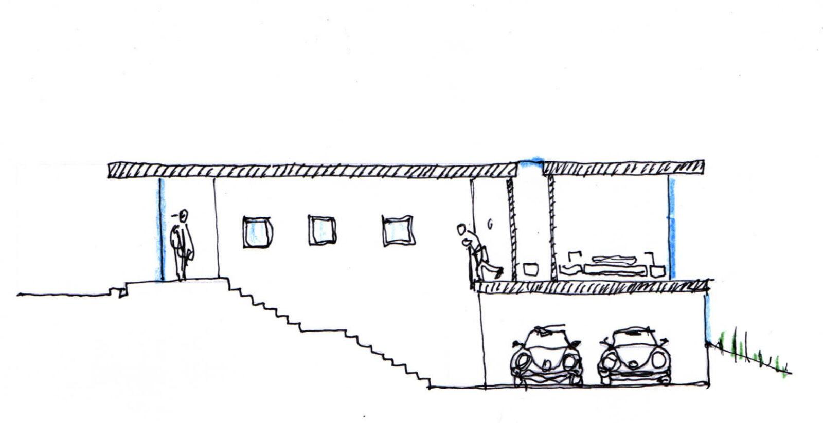 Sección-vivienda-para-terreno-en-pendiente
