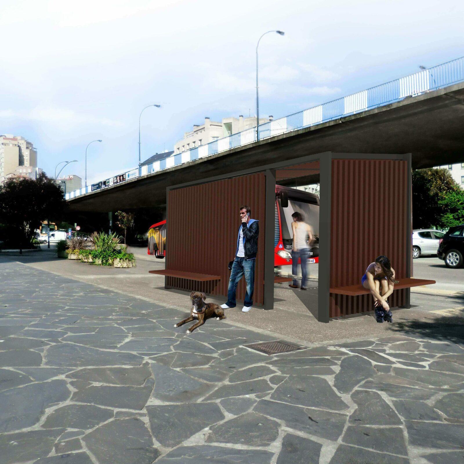 DQarquitectura- proyectos-arquitectura-paisaje-ourense-marquesina- bus-urbanismo-vista-posterior