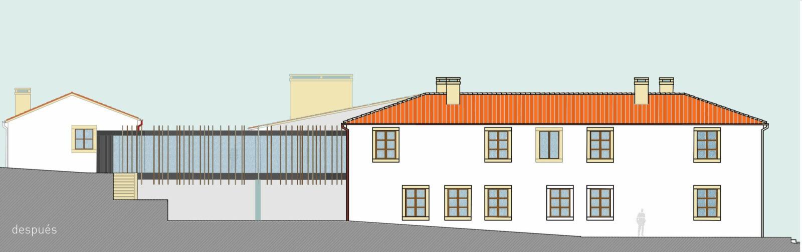 dqarquitectura-arquitectura-paisaje-proyecto-rehabilitación-pazo-de-piedra-ourense-alzado