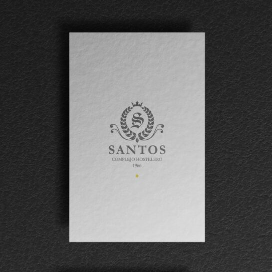 Diseño de tarjetas corporativas para Santos Complejo Hostelero