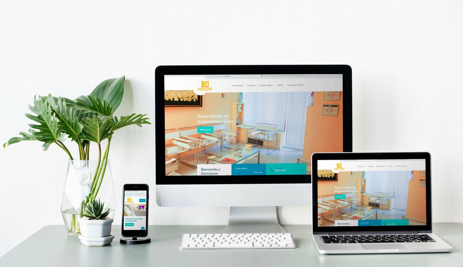 Diseño web para centro médico dermalaser