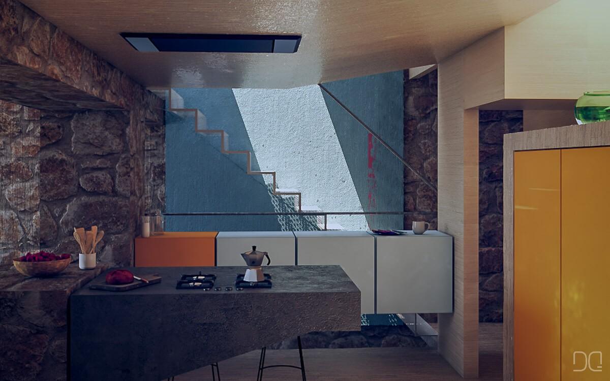 Rehabilitacion de vivienda de piedra en Seixalbo, cocina