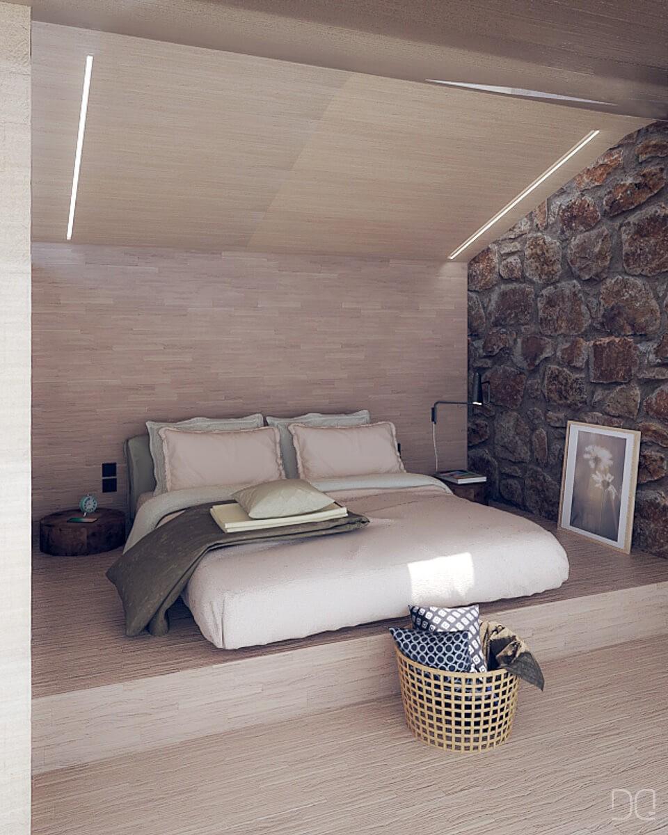 Rehabilitacion de vivienda en Seixalbo, dormitorio superior