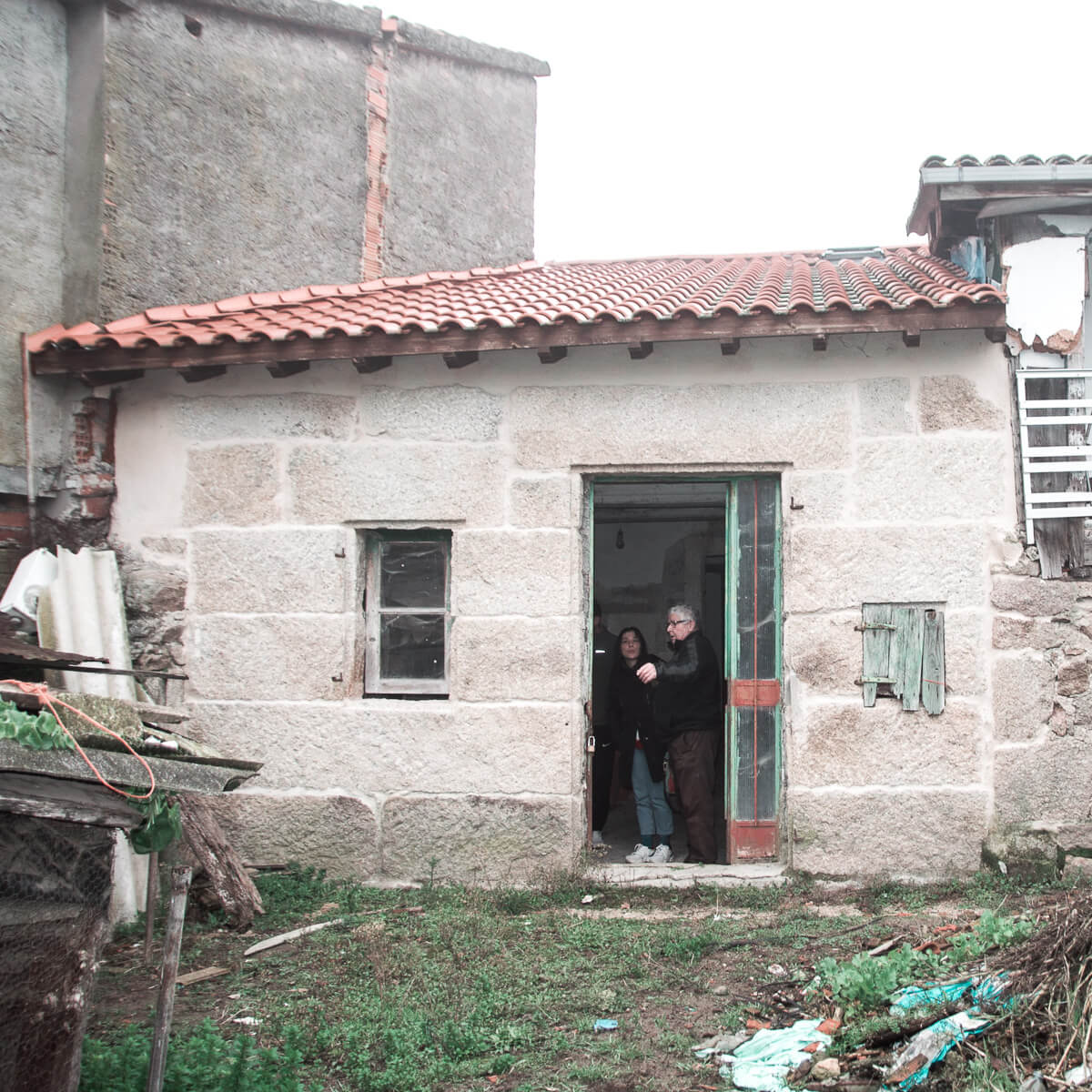 Rehabilitacion de casa de piedra Seixalbo, fachada sur