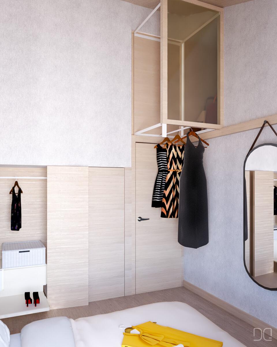 Rehabilitacion de  casa de piedra en Seixalbo, vestidor