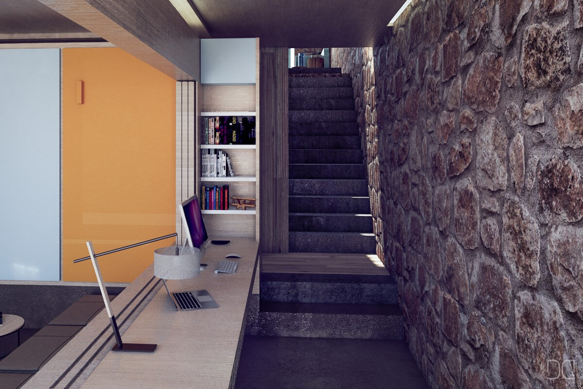 Rehabilitacion de casa de piedra Seixalbo, acceso