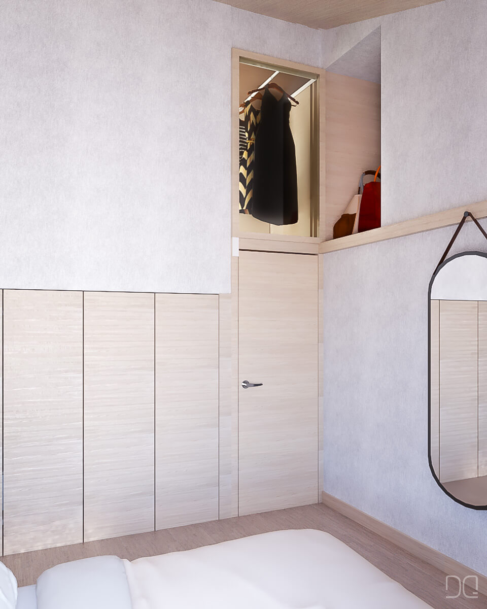 Rehabilitacion de vivienda en Seixalbo, vestidor
