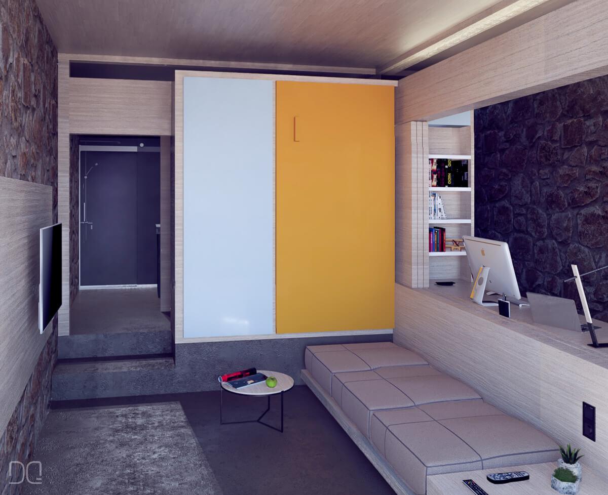 Rehabilitacion de casa de piedra en Seixalbo, estudio