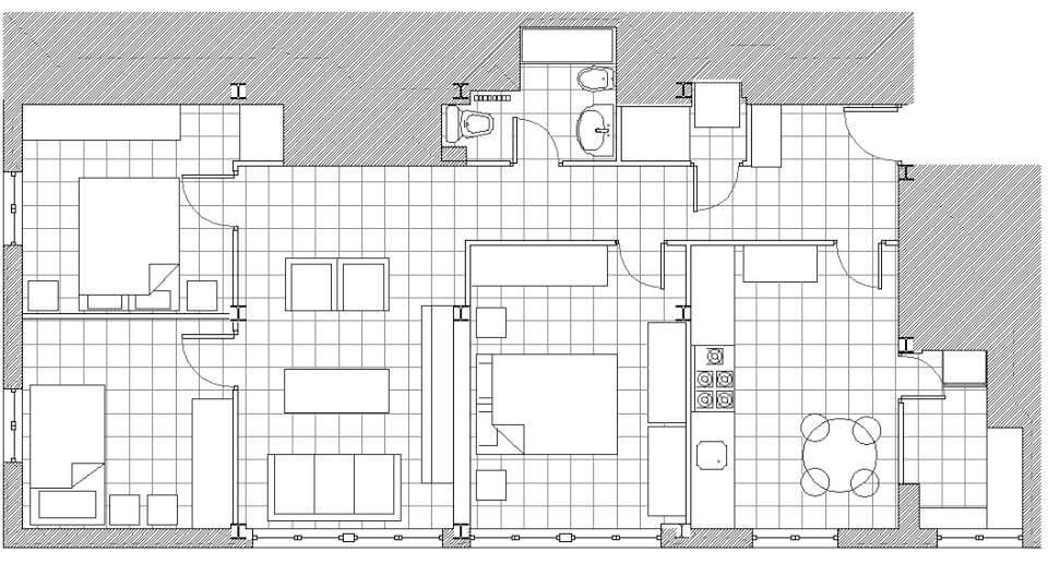 Plano estado actual piso