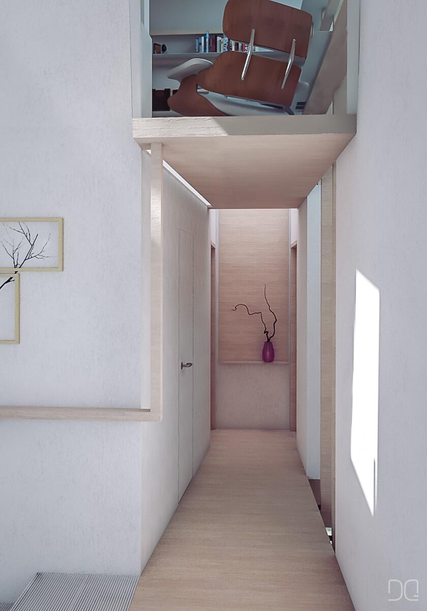 vista del pasillo superior
