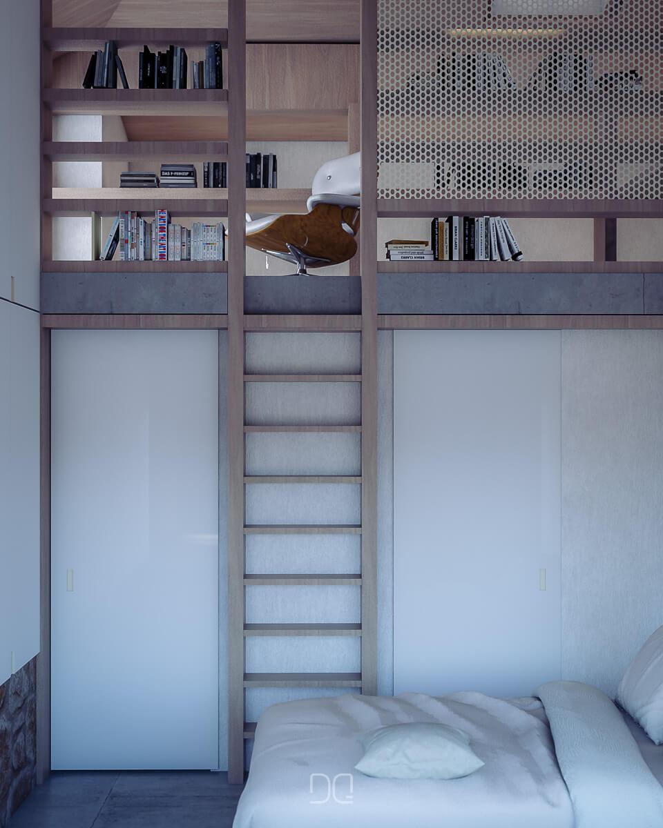 Vista del dormitorio superior