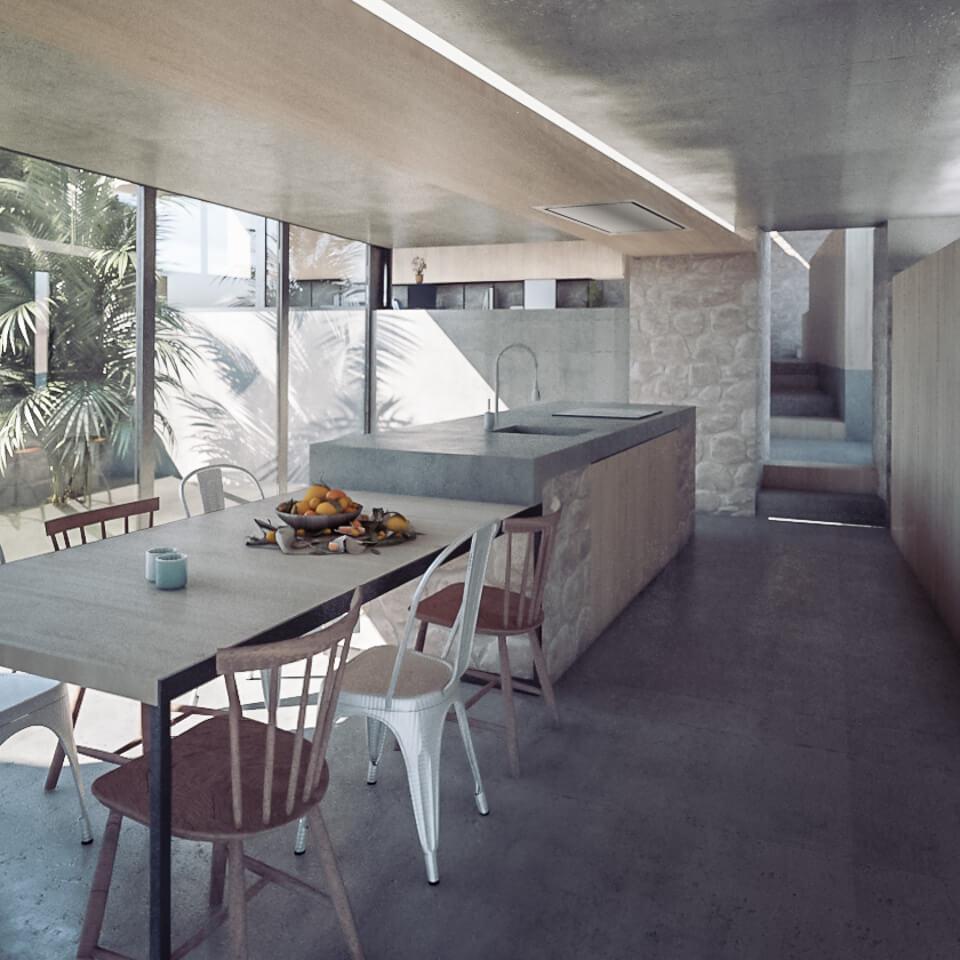 Rehabilitación de casa de piedra en Maside