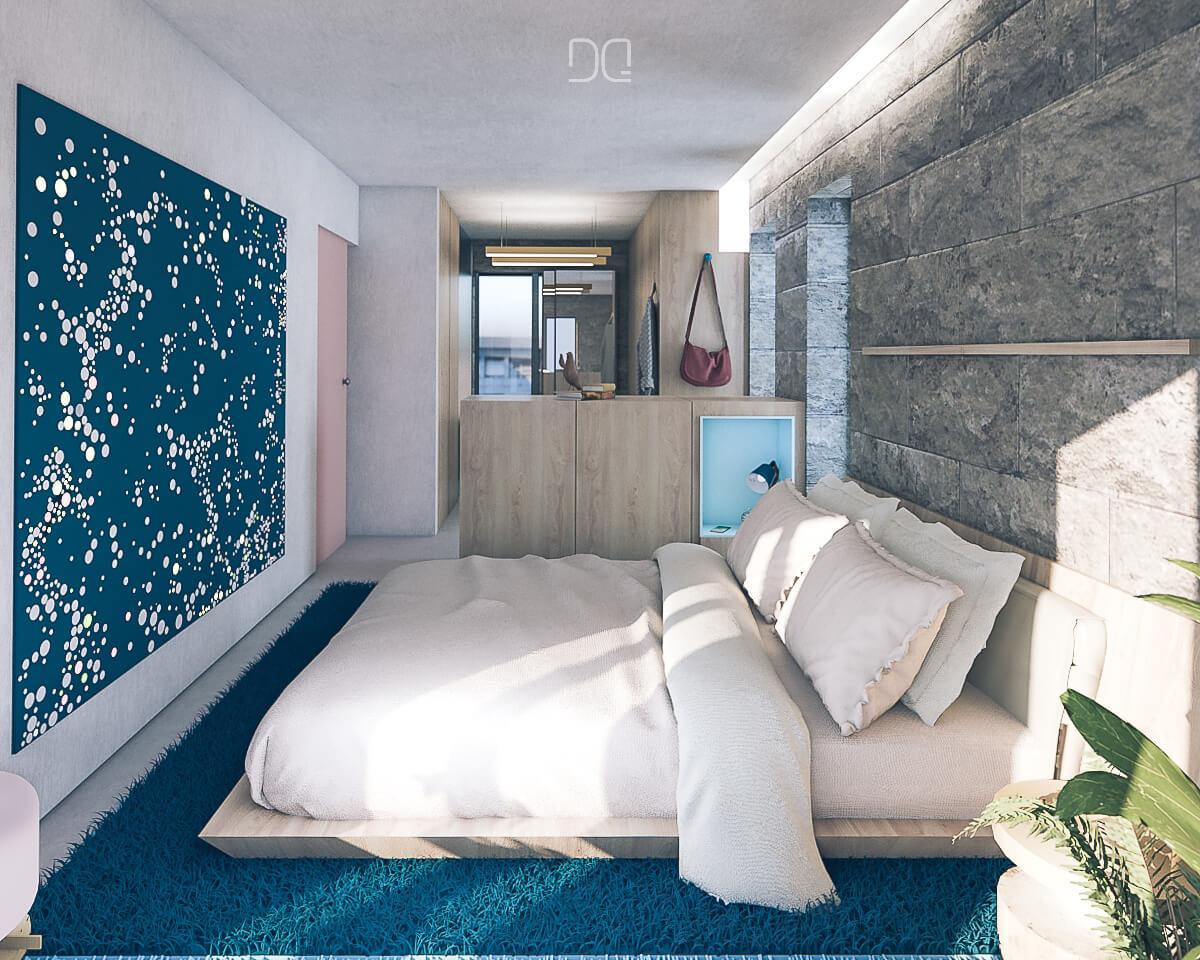 reformar piso pequeño dormitorio vestidor