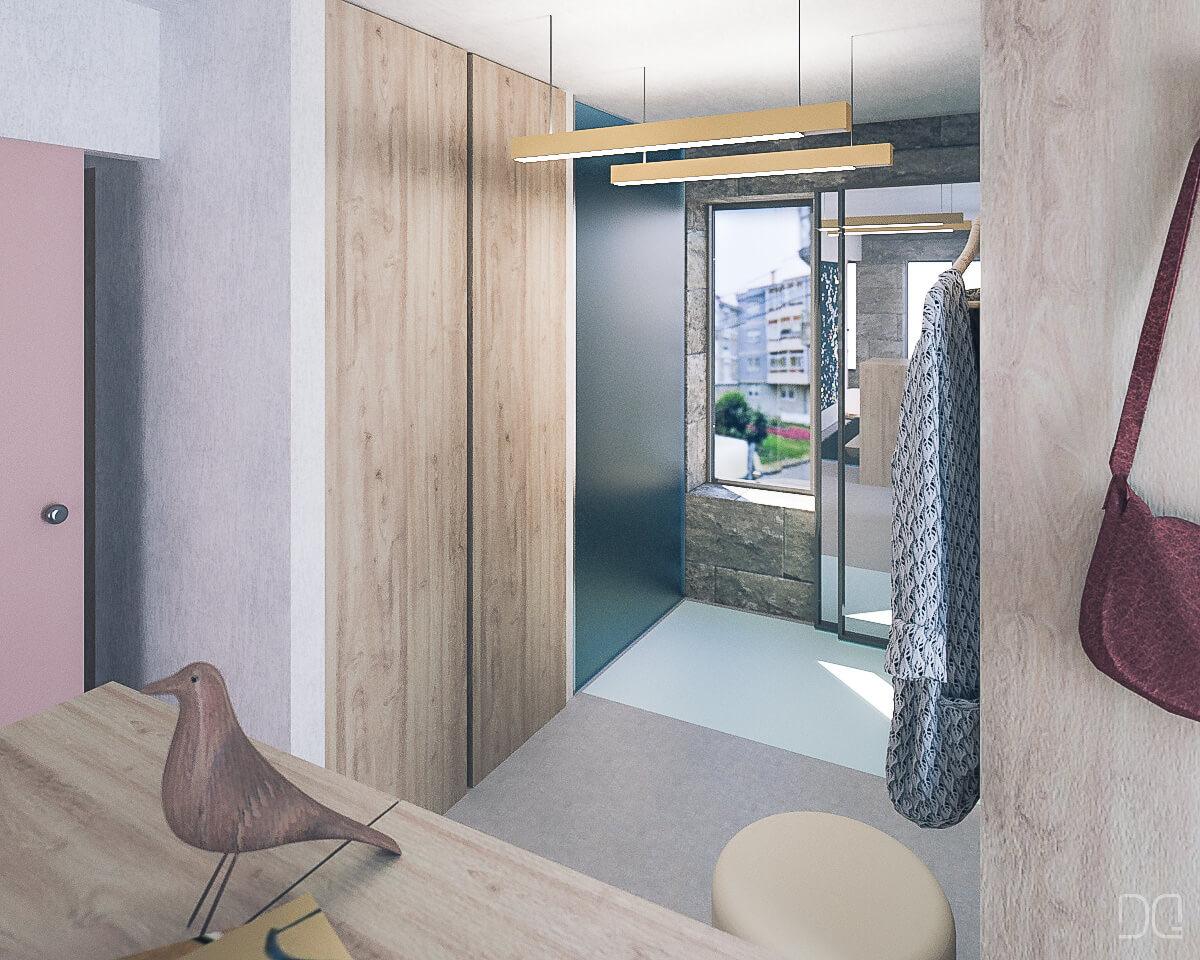 reformar piso pequeño  vestidor